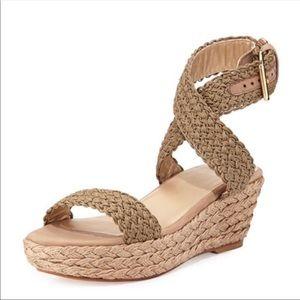 Stuart Weitzman  Alexlo Crochet Sandals Wedge